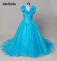 Hot Dresses 15 Years Sky Blue Cinderella Quinceanera Dresses With Butterfly Puffy Corset Masquerade Ball Gown Debutante Dress