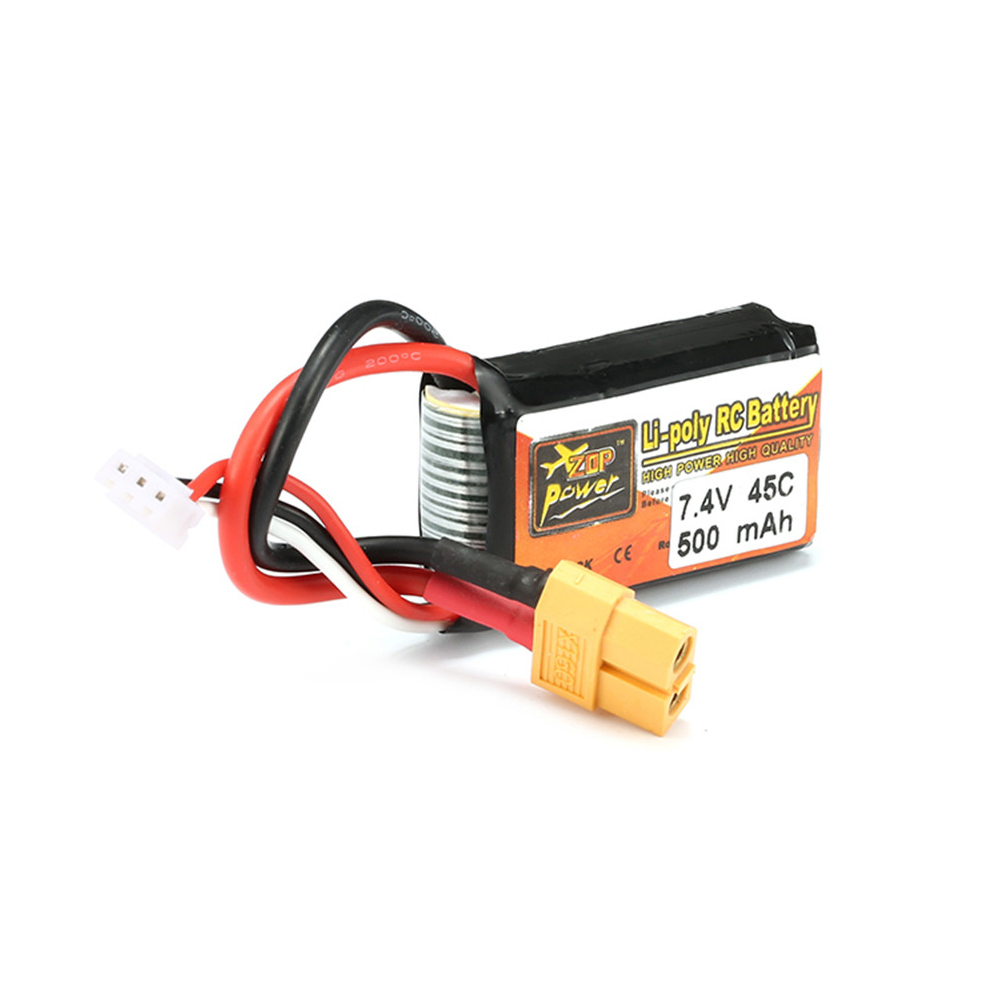 1pcs ZOP Power LiPo <font><b>Battery</b></font> <font><b>7.4V</b></font> <font><b>500mAh</b></font> 45C 2S XT60 Plug For RC Quadcopter Drone Helicopter Car Airplane image