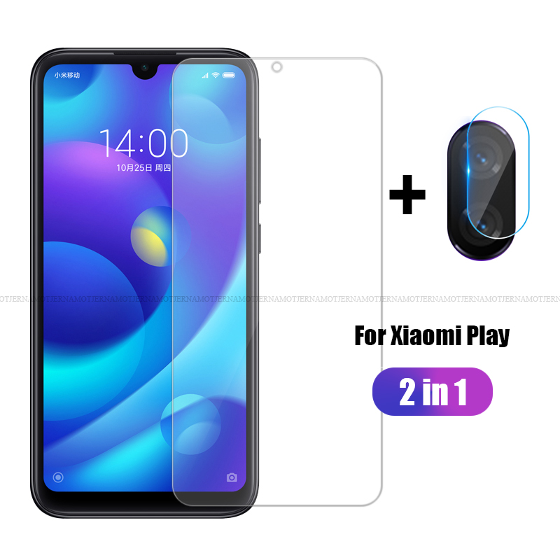 2 In 1 For Xiaomi Mi Play MiPlay Tempered Glass Screen Protector Front Film+Camera Lens Film For Xiaomi M1901F9E Protective Film