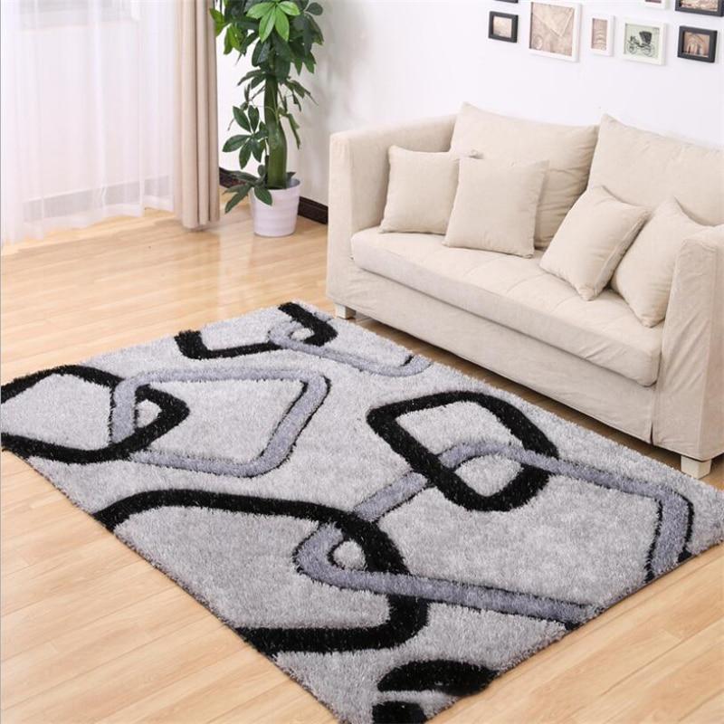 Simple Korean Soft Thicker Long Hair Carpets For Living Room Bedroom Kid Room Rugs Home Carpet Floor Door Mat Delicate Area Rug