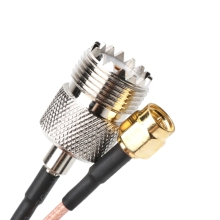 RG316 кабель Перемычка Пигтейл UHF SO239 женский PL259 к SMA штекер обжимной адаптер
