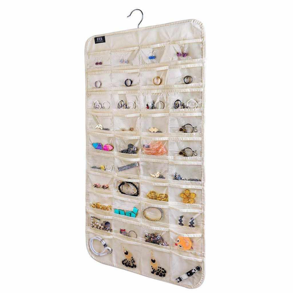 80Pockets  Clothing Hanger Closet Shoes Underpants Storage Bag 80 Pockets Foldable Wardrobe Hanging Bags Socks Briefs Organizer