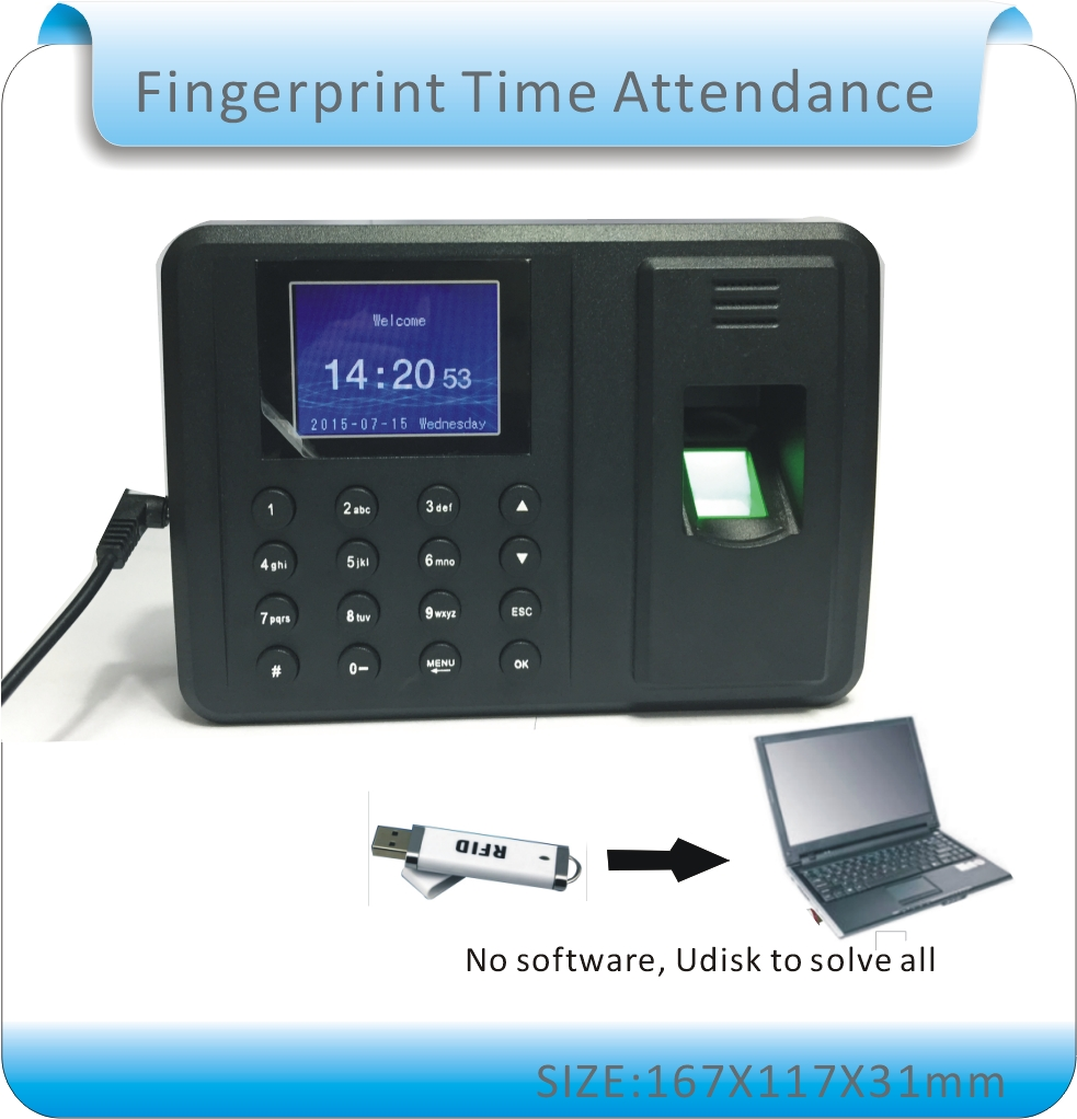 More language password+ fingerprint time clock / office attendance recorder timing employee attendance machine /Udisk download hot selling good quality standalone m300 125khz id card time attendance machine employee time record office device
