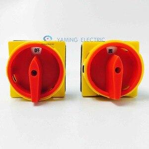 Image 4 - 63 amp מבודד מתג ראשי מתג סיבובי ממונע מנעול כרית מתג הפעלה ב off מתג YMD11 63A משלוח חינם