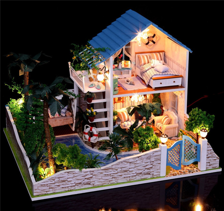 Buy large size assembling diy miniature for Model house movie