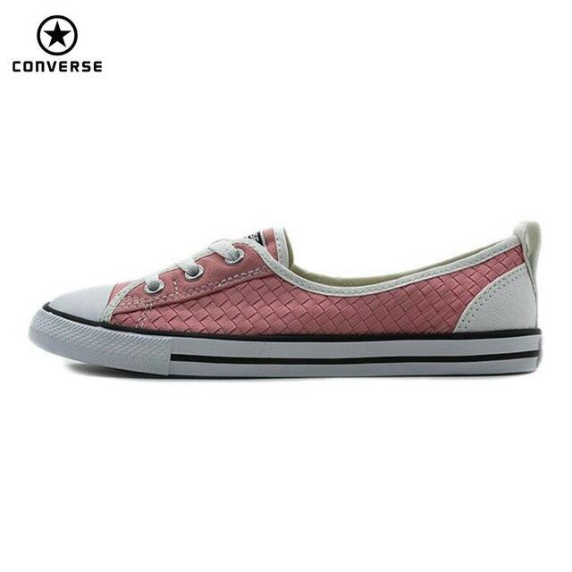 d34d5bb9fb Nova Originais Converse All Star sola Fina tecido estilos as sapatilhas das  mulheres luz Sapatos de
