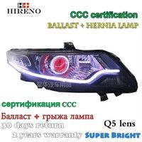 Hireno Modified Headlamp For Honda City 2008 2014 Headlight Assembly Car Styling Angel Lens Beam HID
