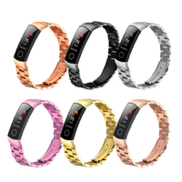Correa de Metal para honor band 5 4 pulsera de acero inoxidable para Huawei honor band 5 Oximetry reloj inteligente de moda|Accesorios inteligentes| |  -