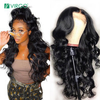 Virgo 13x6 Lace Front Wig Brazilian Body Wave Wig 100% Lace Front Human Hair Wigs for Black Women Pre Plucked Full Ends Remy