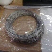 1 мм диаметр 50 м 304 Проволочный Трос из нержавеющей стали кабель мягче рыболовный подъемный кабель 7X7 структура(1 мм