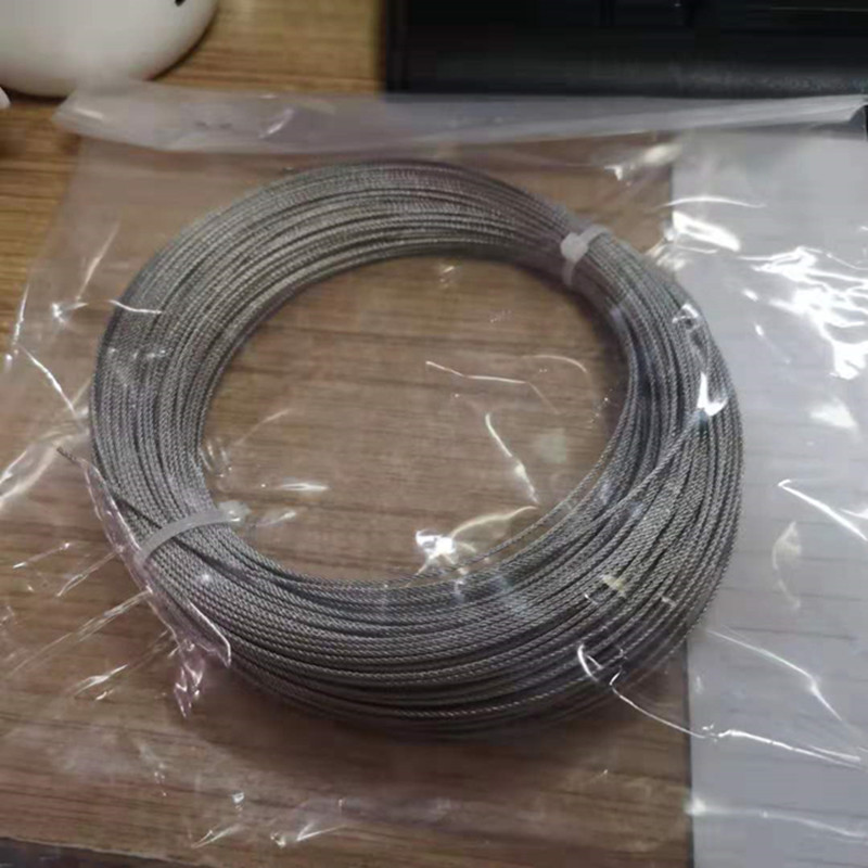 <font><b>1mm</b></font> diameter 50M 304 stainless steel wire rope <font><b>cable</b></font> softer fishing lifting <font><b>cable</b></font> 7X7 Structure(<font><b>1mm</b></font>) image