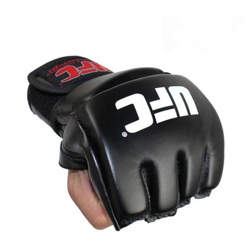 Erweiterung Handgelenk Halbe finger boxen handschuhe guantes de boxeo ausbildung sport fitness kampf boxeo kick boxing mma handschuhe