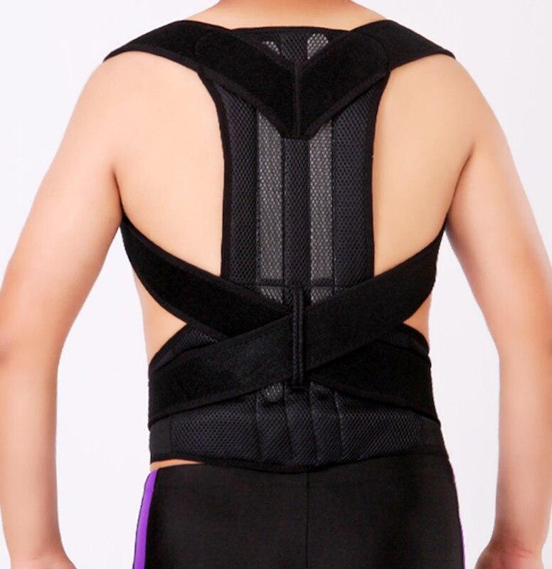 Adjustable Posture Corrector Brace Back Strap Reinforcement Support Lumbar Brace Shoulder Band Belt free size o x form legs posture corrector belt braces