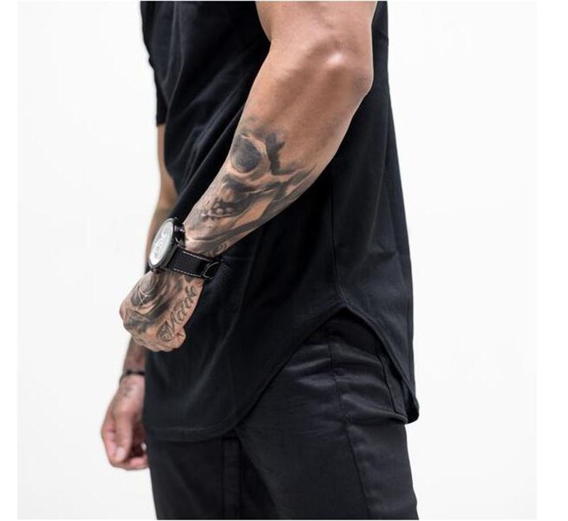 Brand Mens muscle T shirt bodybuilding fitness men tops cotton singlets Plus Big size TShirt Cotton Mesh Short Sleeve Tshirt 37