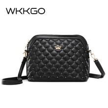3cab7a3f9 WKKGO nueva Shell, remache de moda corona Imperial bolso mujer de hombro  paquete bolso de