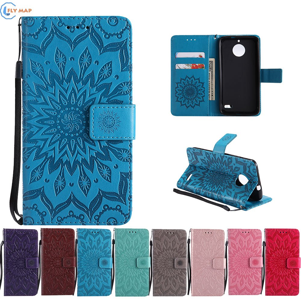 Case Cover For Motorola Moto E4 XT1767 Wallet Flip Phone Leather Coque For Motor