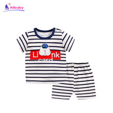 3-4t kids clothes summer baby T-shirt two-piece suit cotton baby boy girl cartoon children's clothing new boys clothes(China)