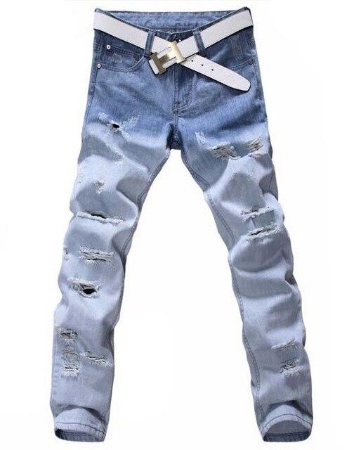 Aliexpress.com : Buy Plus Size Men Jeans 42 40 Gradual Changed ...