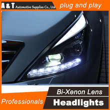 A&T Car Styling for Nissan Teana LED Headlight 2012 Altima Headlight DRL Lens Double Beam H7 HID Xenon Car LED Light
