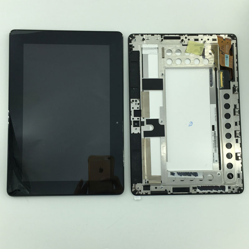 Small scratches LCD Display Monitor Touch Screen Panel Digitizer Assembly Frame For Asus MeMo Pad Smart ME301 ME301T K001 TF301T цена