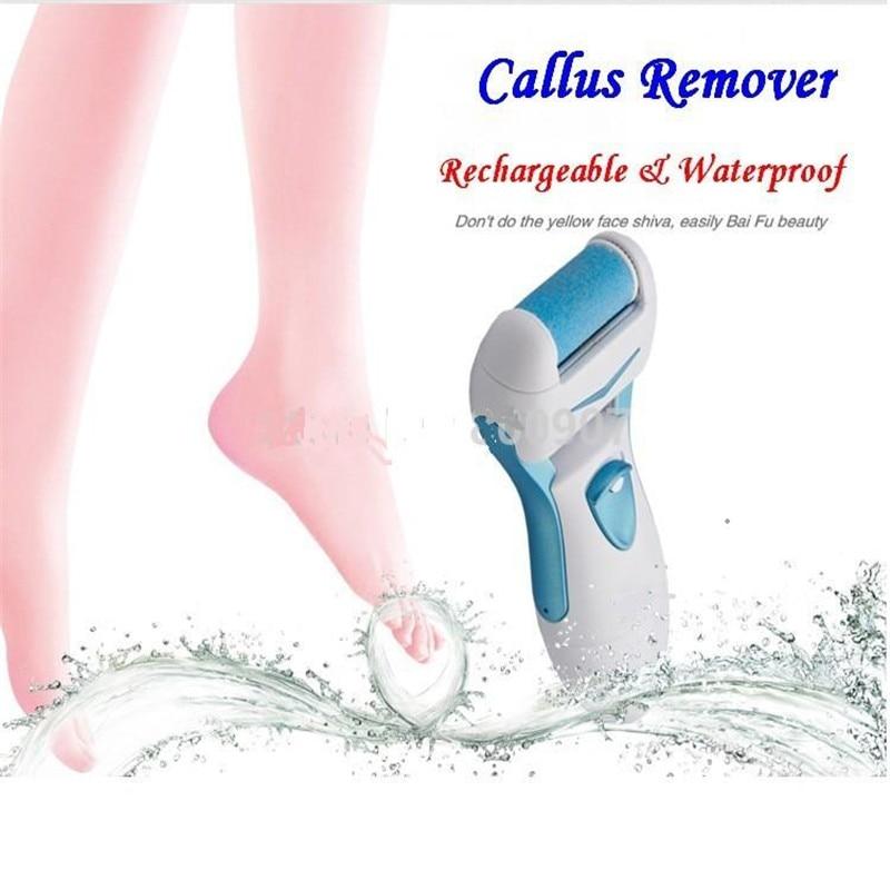 Bärbar elektrisk tvättbar fotkvarn pedikyr fot häl fil callus remover slipmaskin död hud borttagning rullhuvud