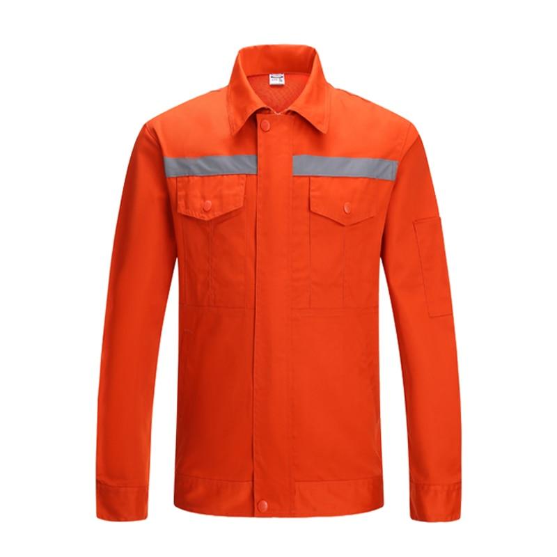 Orange Long Sleeve Work Shirt With Hi Vis Tapes Work Clothes Workwear MenOrange Long Sleeve Work Shirt With Hi Vis Tapes Work Clothes Workwear Men