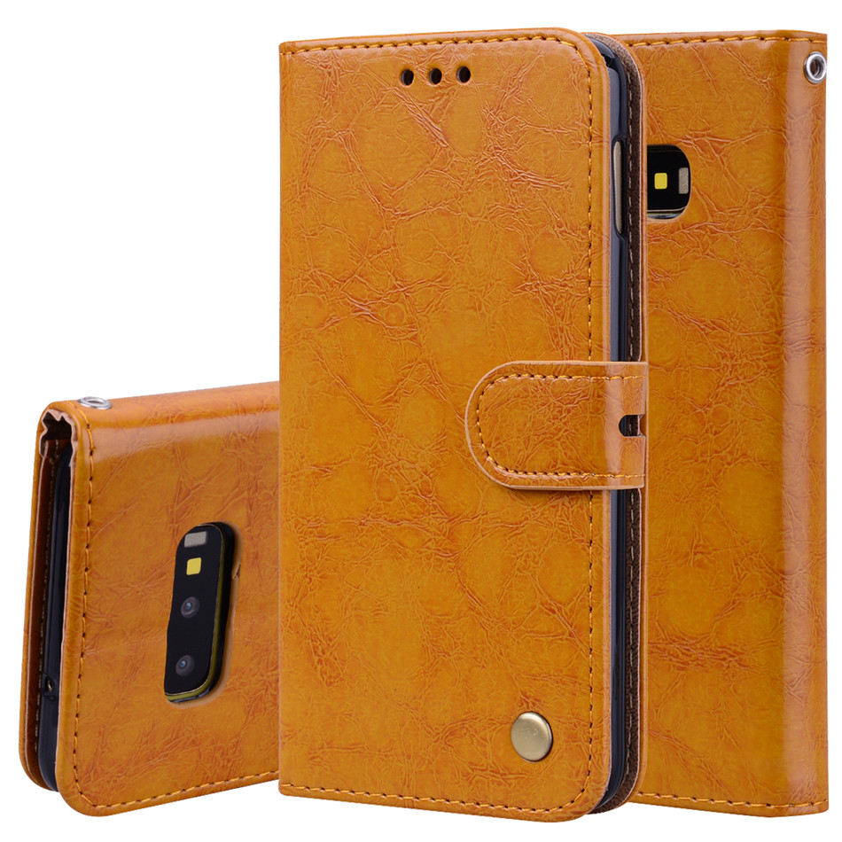 Hight Quality Leather Case For Samsung Galaxy S3 S4 S5 S6 S7 Edge S8 S9 S10E S10 A6 A8 J4 J6 Plus 2018 Card Pocket Cover P17F in Flip Cases from Cellphones Telecommunications