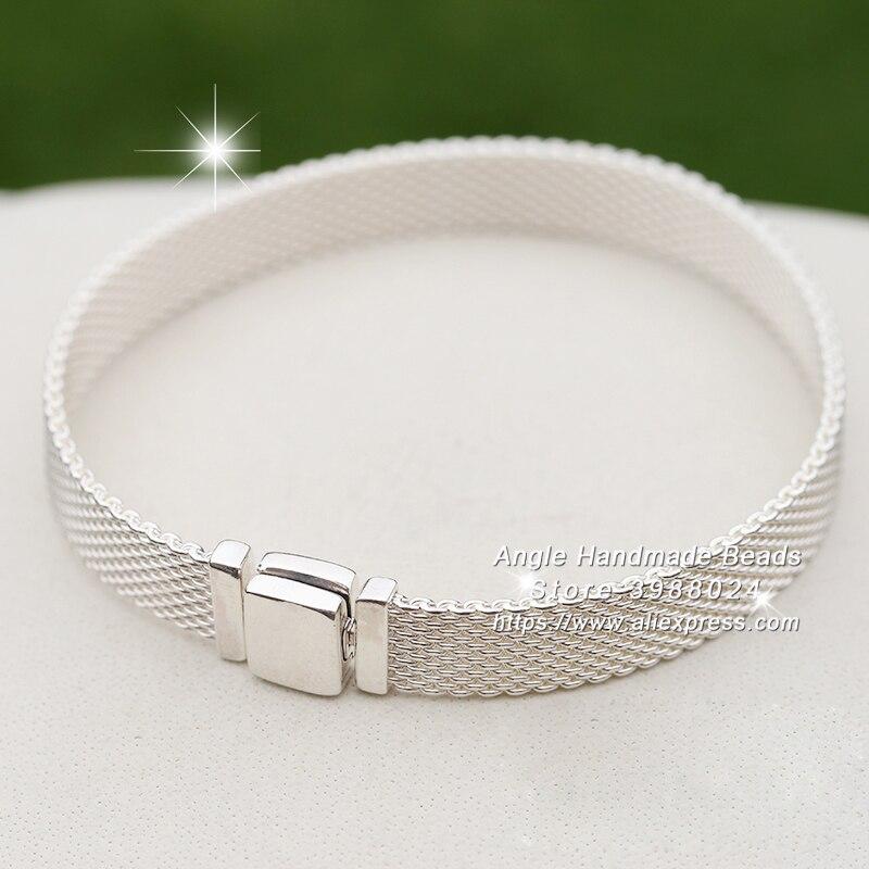 Bracelet de réflexions en argent Sterling S925 pour bricolage