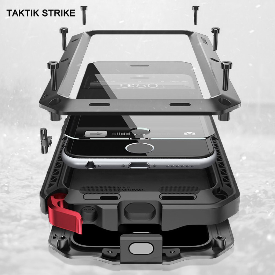 Luxury Shockproof Waterproof Powerful Protector Metal Mobile Phone Holder Case For iPhone 4 4S 5 5S