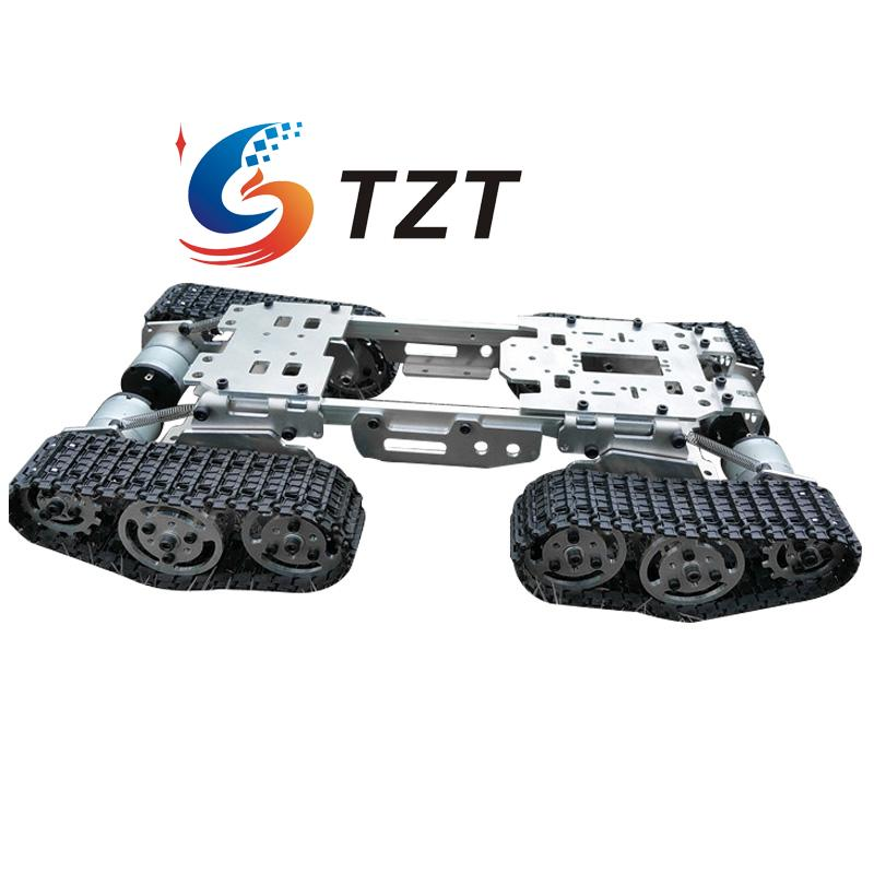 2018 WZY569 разведки Р/У танки автомобиля грузовик робот шасси ЧПУ сплав тела 4 Пластик треков 4 Двигатели