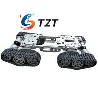 2018 WZY569 Intelligence RC Tank Car Truck Robot Chassis CNC Alloy Body 4 Plastic Tracks 4 Motors