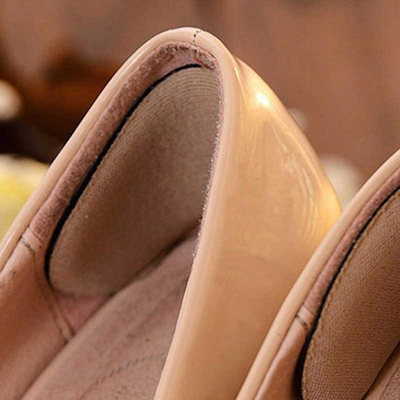 5 pares Elástico Forro Calcanhar Esponja Pegajoso Inserções de Silicone Almofadas Almofada de Apoio do Calcanhar Para Sapatos Inserções Almofada Palmilha sapatos de Salto Alto