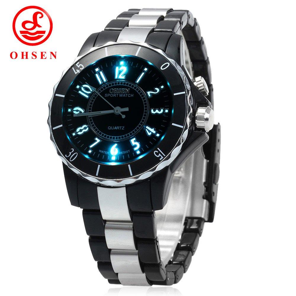 083fae199ba Mulheres Marca de moda Relógio De Pulso De Luxo de Multi-cor Luz Militar  OHSEN