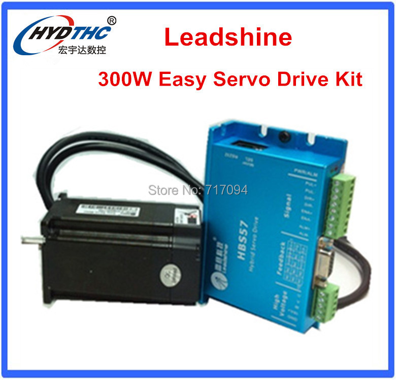 Lowest price Leadshine easy servo motr Closed Loop 3-phase Hybrid Servo Drive Kit HBS57 Drive + 573HBM20 Motor 100w new leadshine closed loop system a servo drive hbs507 and 3 phase servo motor 573hbm10 1000 with a cable a set cnc part