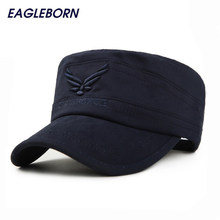 523a106d14c 2019 Brand New Eagleborn US AIR FORCE Breathable Cotton Army Captain  Tactical hats for men Vintage Flat Roof Military Caps