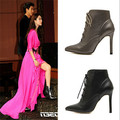 Sexy Pumps Boots New 2015 Fashion Pointed Toe Thin 10cm High Heel Women Boots Shoes Women For Martin Boots #2705