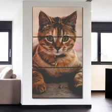 Canvas Painting 3 Panel Wall Art Poster Home Decoration Animal lovely Cat Modular Pictures Modern Print Type Cuadros