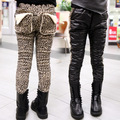 Free shipping Winter new children's wear girls AB version leopard grain trousers panty backing pants