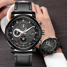 2018 CADISEN Top Brand Mens Quartz Watches Leather Fashion Pilot Military Sports Wristwatches Auto Date Clock Relogio Masculino