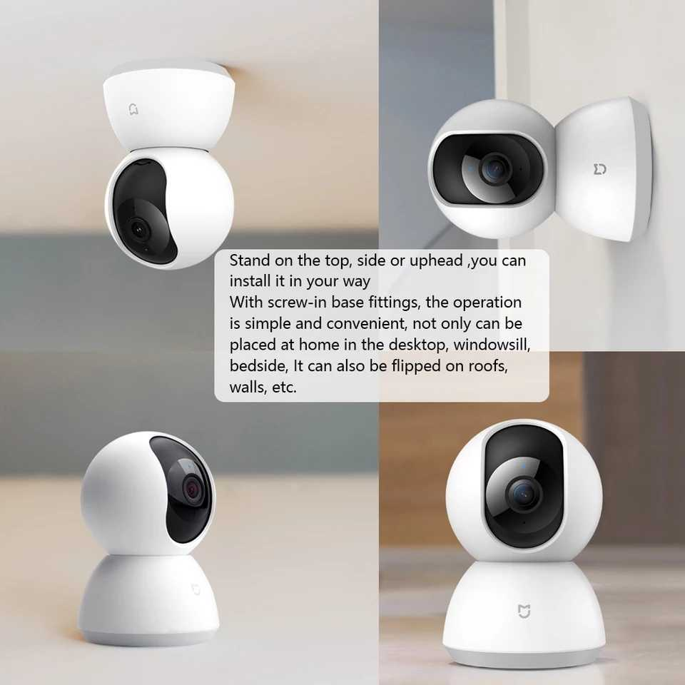 Xiaomi Mijia CCTV Smart IP 360 Kamera Wifi Pan-Tilt Malam Visi 360 Sudut Kamera Video Motion Detection Xioami keamanan Rumah