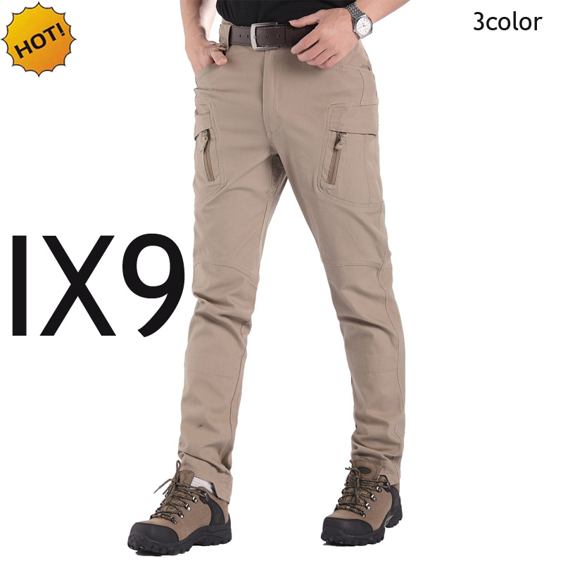 ESDY TAD Executive IX9 Slim Fit City Tactical Cargo Pants Men Zipper Pocket Traning Military Combat Waterproof Agent Trousers