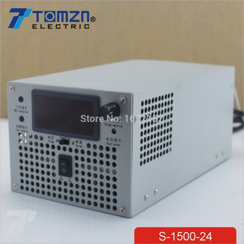 1500W 24V adjustable 220V INPUT adjustable Single Output Switching power supply for LED Strip light AC to DC single output uninterruptible adjustable 24v 150w switching power supply unit 110v 240vac to dc smps for led strip light cnc