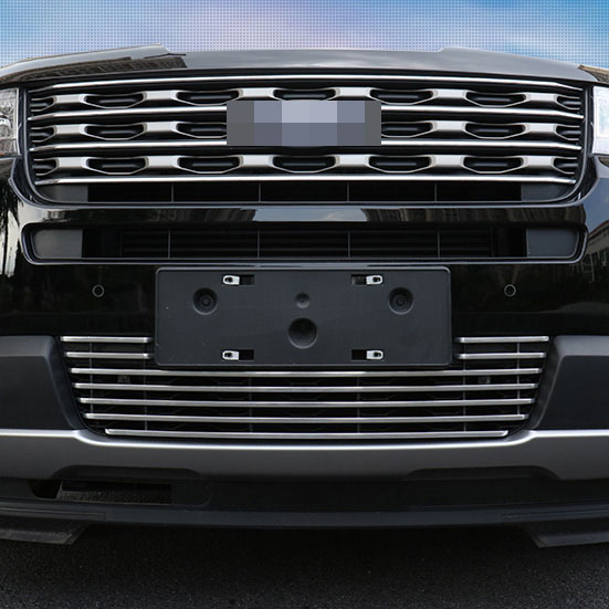 Aluminium Alloy Racing Grille Cover Front Bumper Grille Cove  For Ford Explorer 2011-2018 AccessoriesAluminium Alloy Racing Grille Cover Front Bumper Grille Cove  For Ford Explorer 2011-2018 Accessories