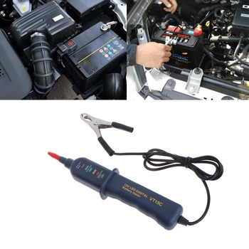12V Digital Battery Auto Alternator Tester with 6 LED For Car Motorcycle Truck image
