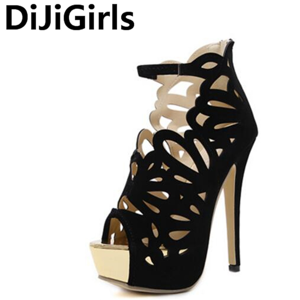 DiJiGirls Women Fashion Platform Sandals  Open Toe Party Shoes Woman Pumps Stiletto For Summer Buckle Strap Spike Heels xiaying smile summer new woman sandals platform women pumps buckle strap high square heel fashion casual flock lady women shoes