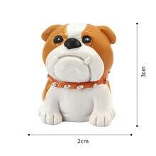 Roogo 16pcs/lot lovely Resin Miniature Puppy Cartoon Cute Dogs Figure Animal Statue Desk Home Garden Micro Landscape Ornament