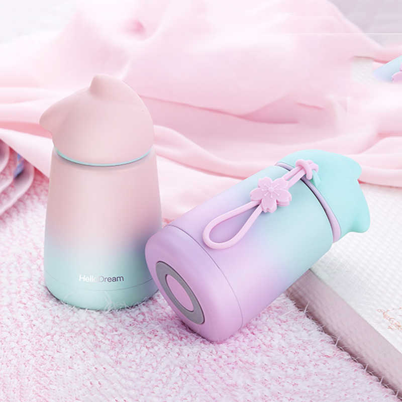 300ml Cartoon Thermos Kids Cup Bottle Stainless Steel Thermocup Vacuum Flask Termos children belly mug mini tepmoc Thermoses