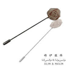 FREE SHIPPING rose flower hijab pins with the cap safety scarf pin muslim craft islam product  new fashion woman  latest needles