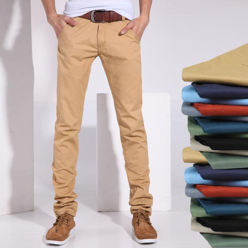 Slim Fit Khakis Men Promotion-Shop for Promotional Slim Fit Khakis ...