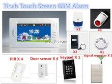 Descuento grande de 7 pulgadas Gran Pantalla LCD GSM Sistema de Alarma de Seguridad Antirrobo Sistema de Alam